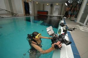 Podvodní fotografie - příprava v bazéně