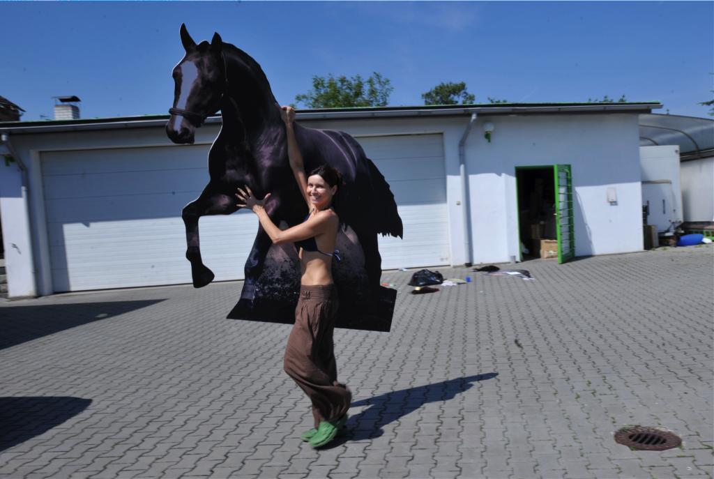 Podvodní fotografování - příprava koně 2